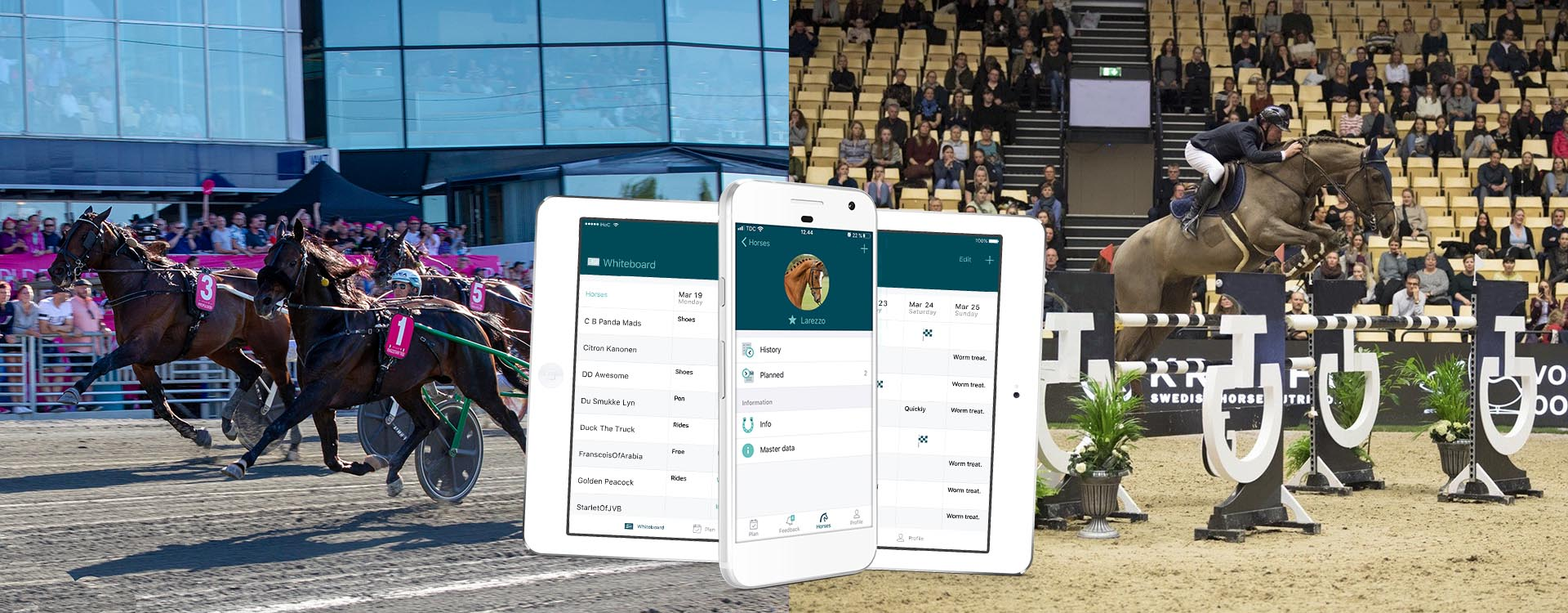 Race and equestrian app